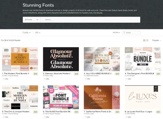 creative market fonts