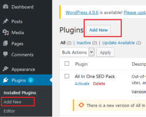 Plugins add new
