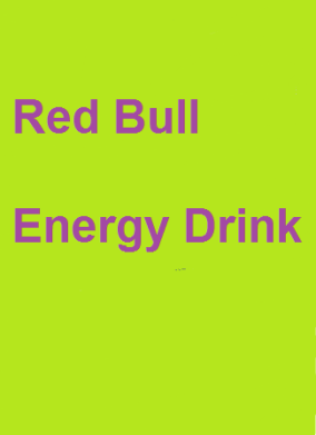 Red bull purple and green
