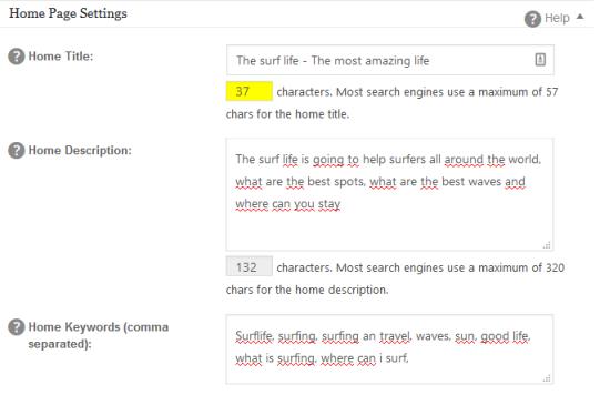 Seo keywords filled