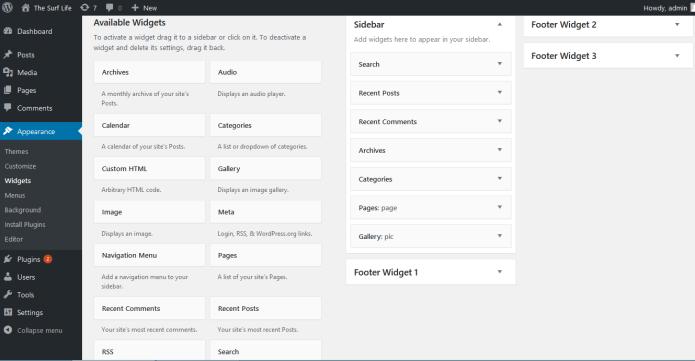 widgets example