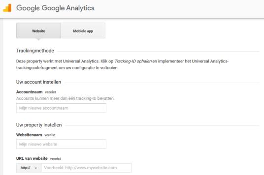 google analytics website inschrijven