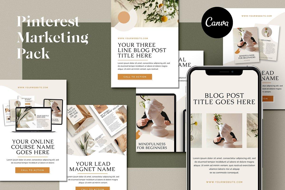 Pinterest Marketing Pack | CANVA