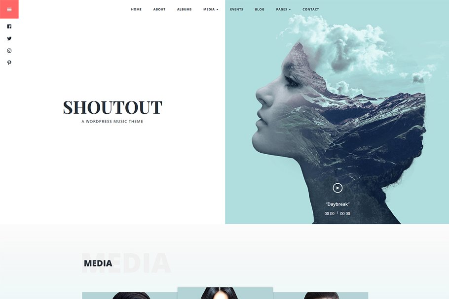 Shoutout - A WordPress Music Theme