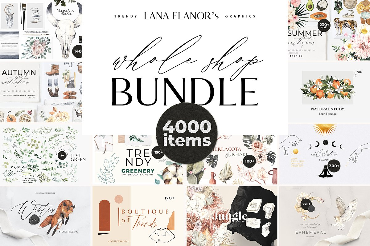 BUNDLE 35 in 1 - 4000 graphics