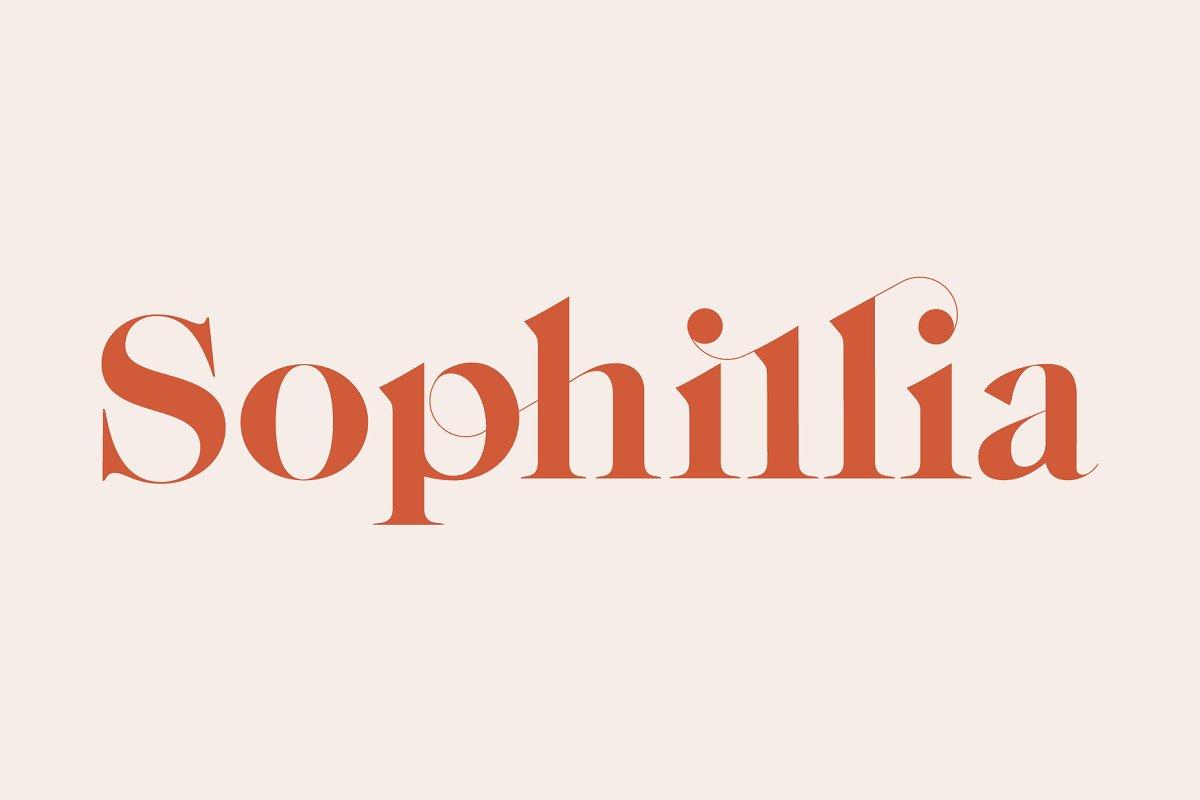 Sophillia - Ligature Serif Font