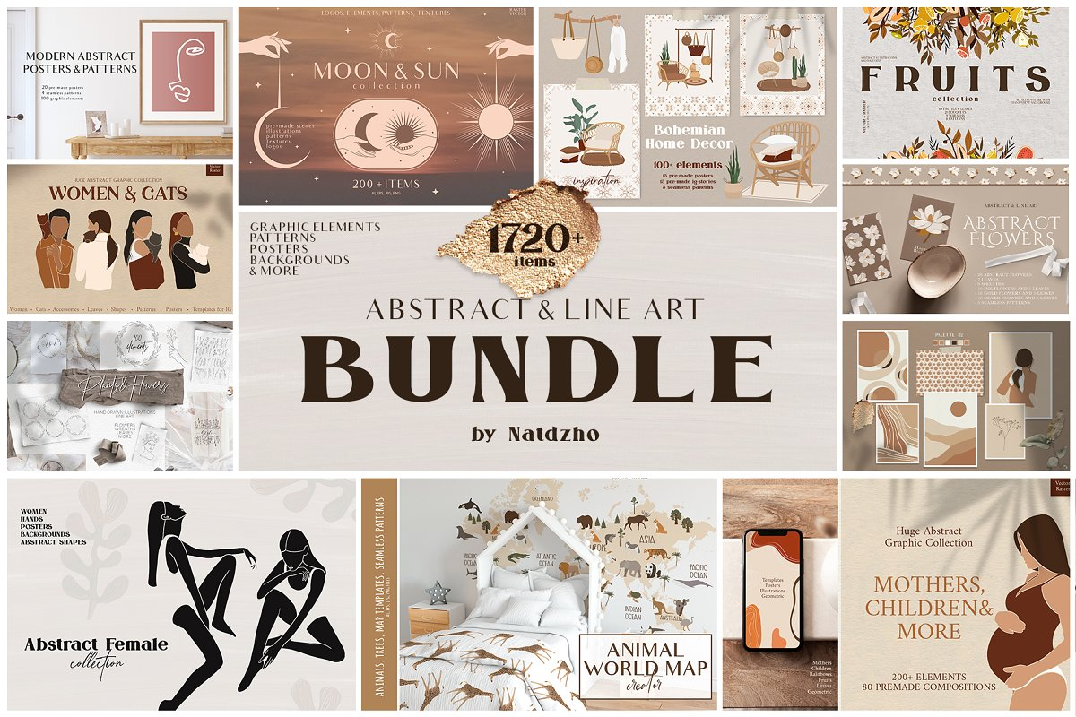Abstract & Line Art Bundle