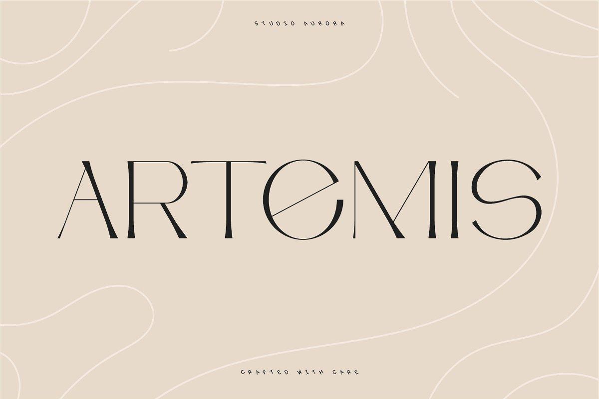 Artemis – Semi-serif typeface