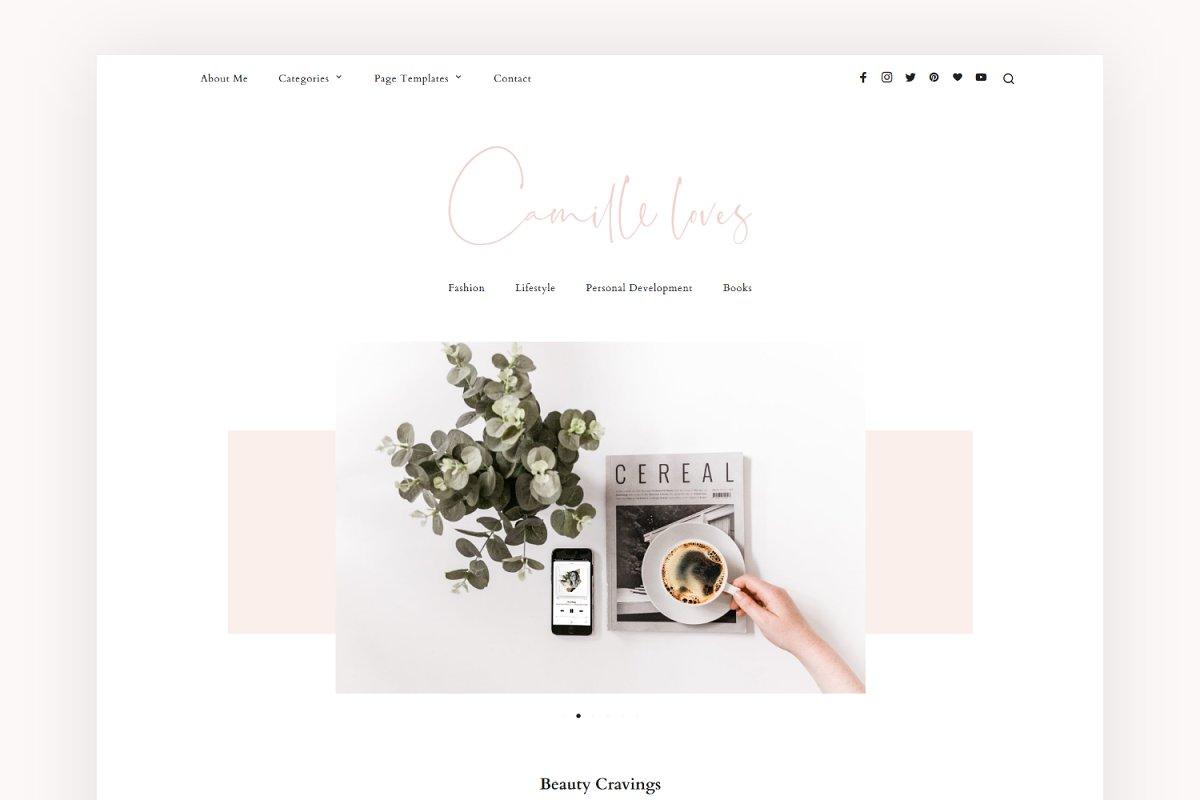 Minimal Blog Theme - Camille