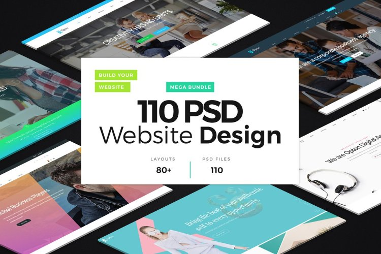 110 PSD Website Design