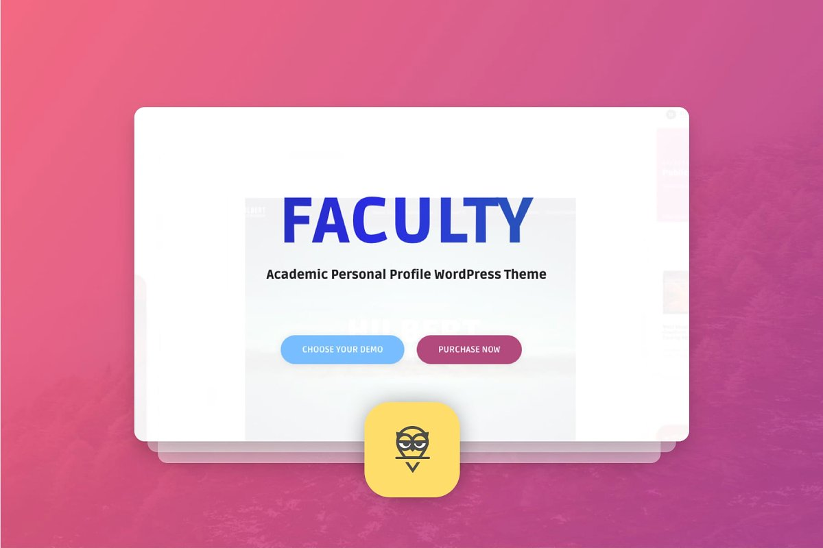 Faculty WordPress Theme