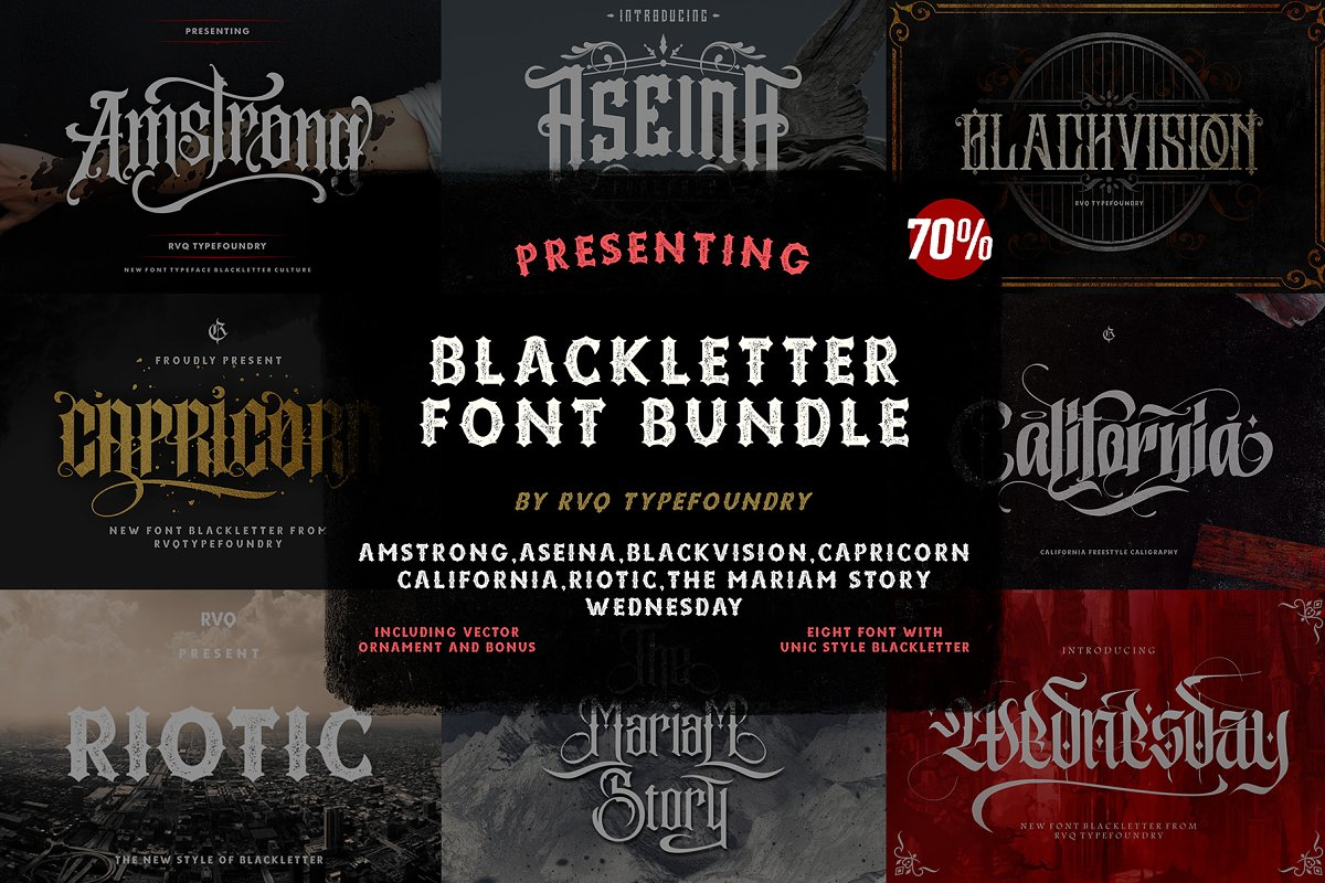 Blackletter Font Bundle
