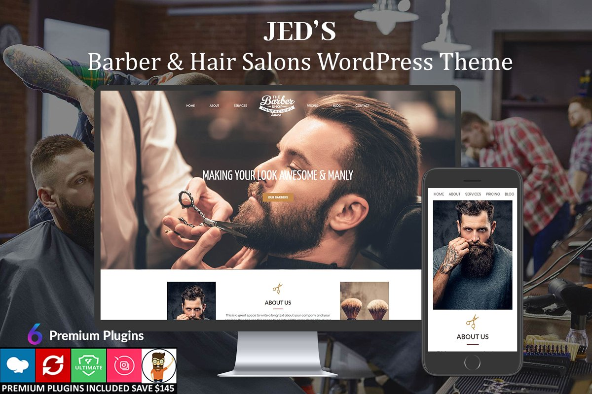 Jed's – Barber & Hair Salon WordPres