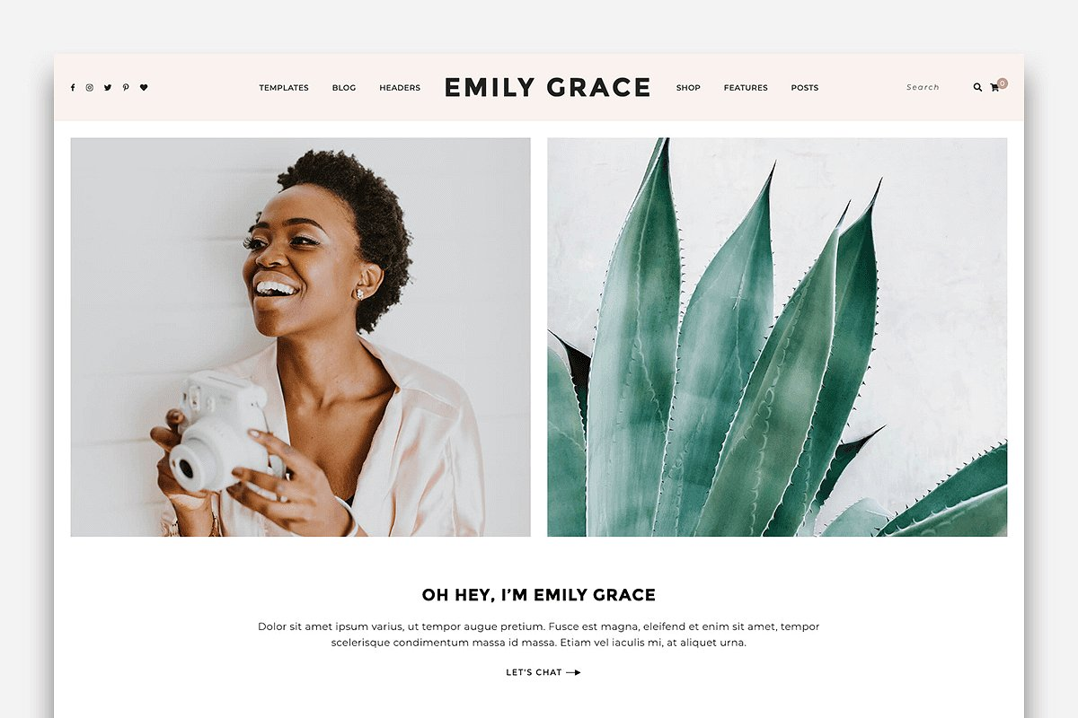 Emily Grace - A Blog & Shop Theme