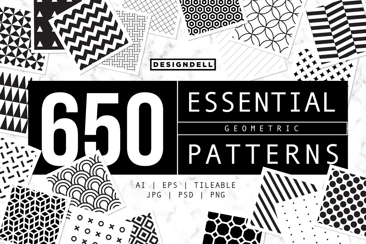Show More 650 ESSENTIAL Vector Patterns