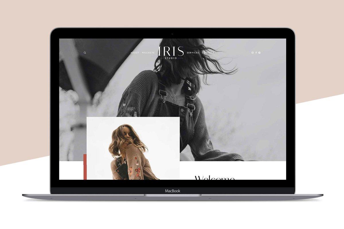 Squarespace Template: Iris