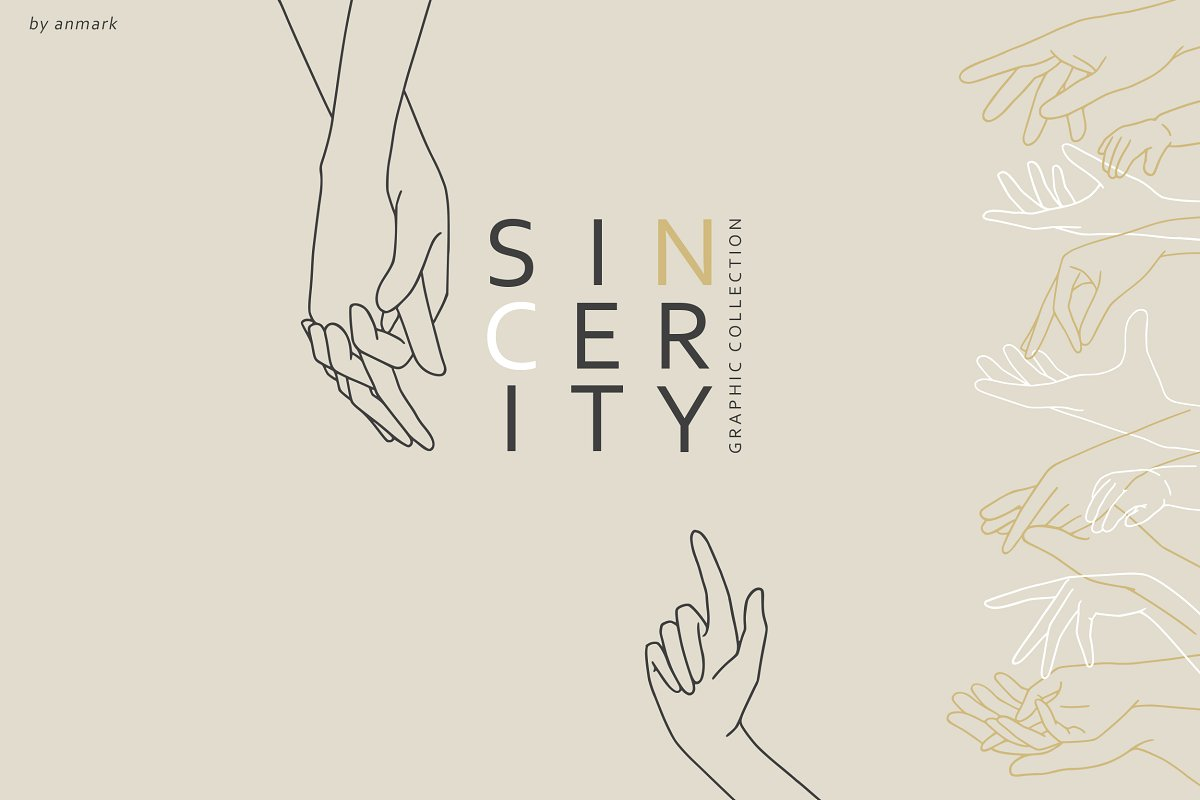 Sincerity. Line Art Hands. UPD!