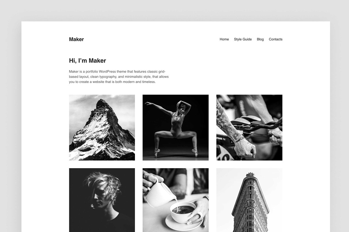Maker – Portfolio WordPress Theme