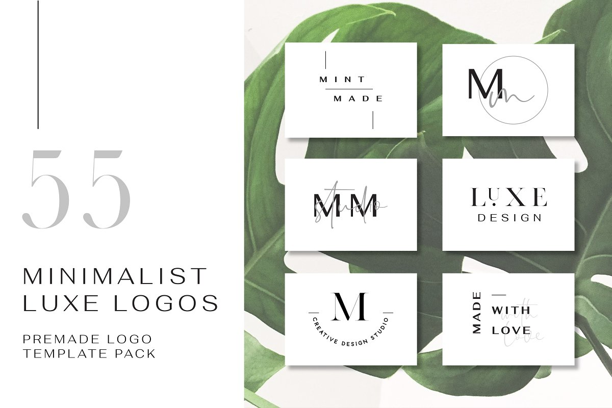 55 Minimalist Luxe Logos