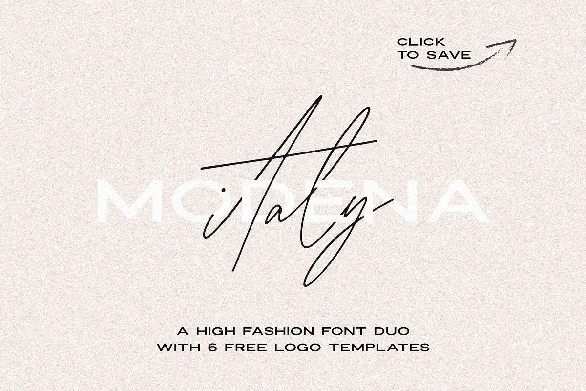 Modena | Duo with 6 Free Logos