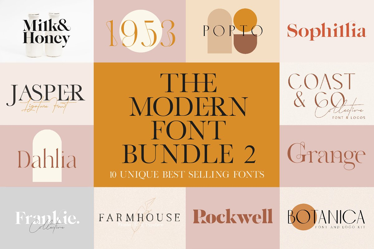The Modern Font Bundle Vol. 2