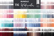Ombre Watercolor Backgrounds Bundle