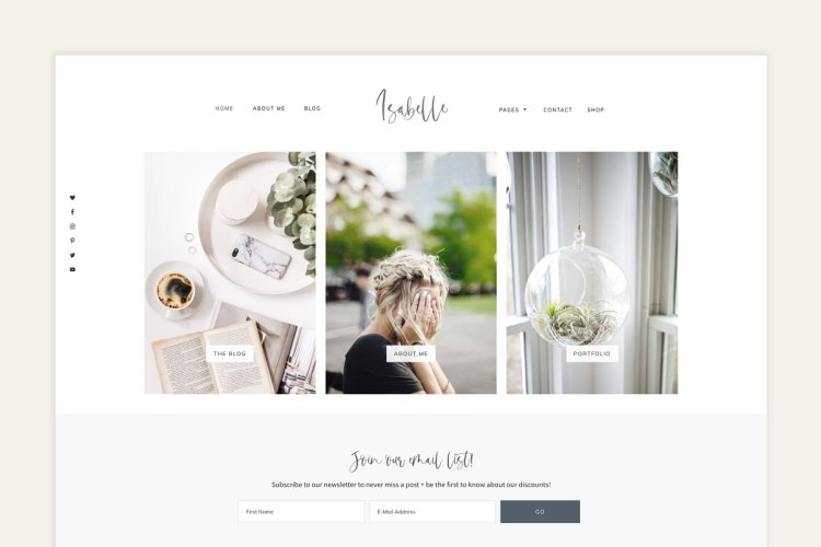 Isabelle - Feminine WordPress Theme