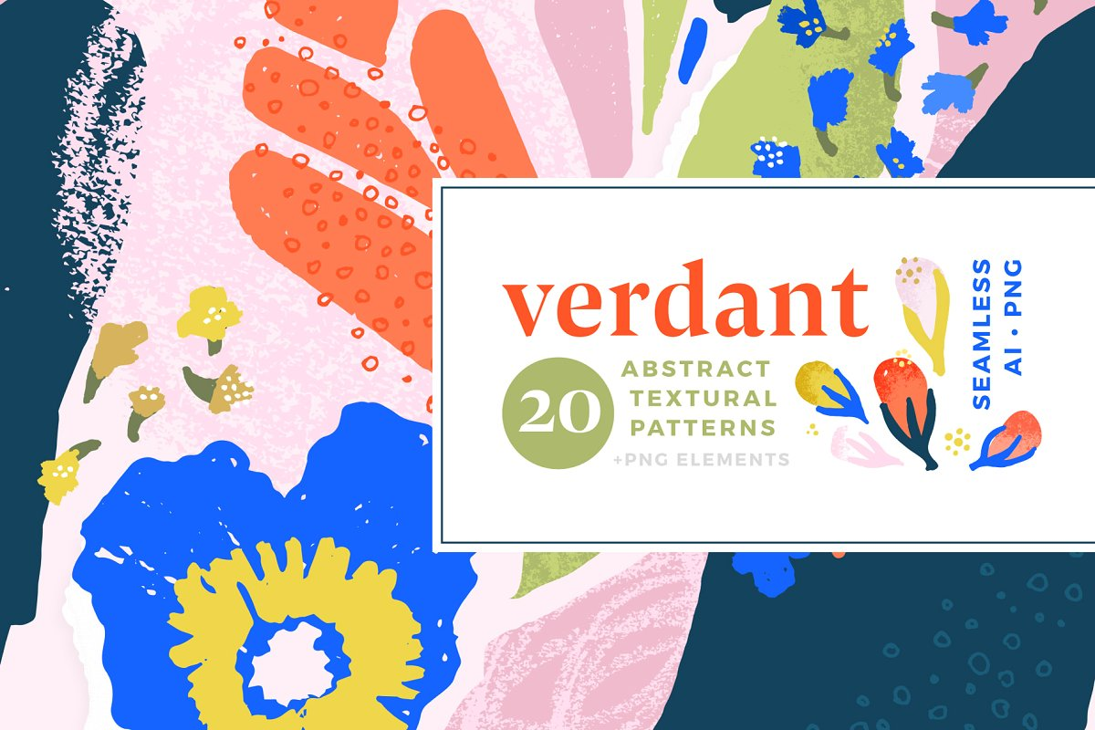 Verdant : Abstract Seamless Patterns