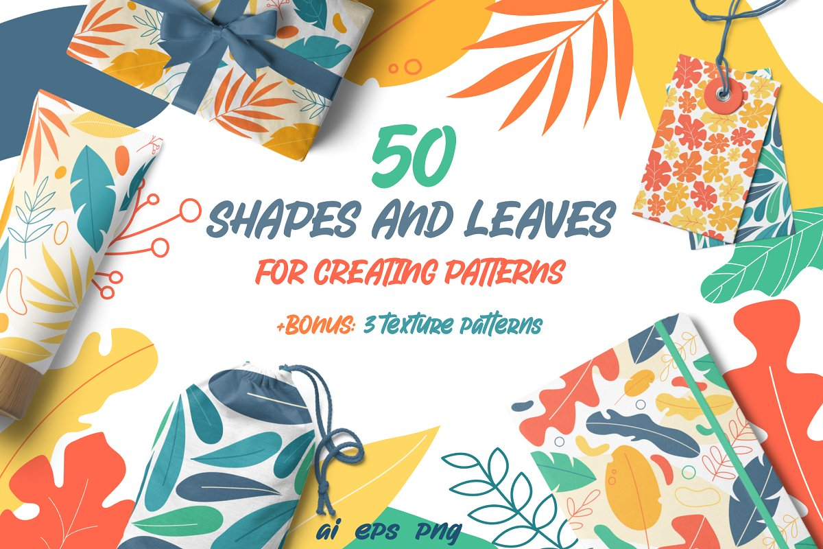 Shapes and leaves for patterns