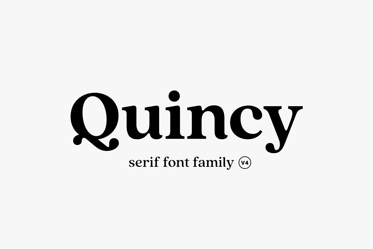 Quincy CF: vintage serif font family