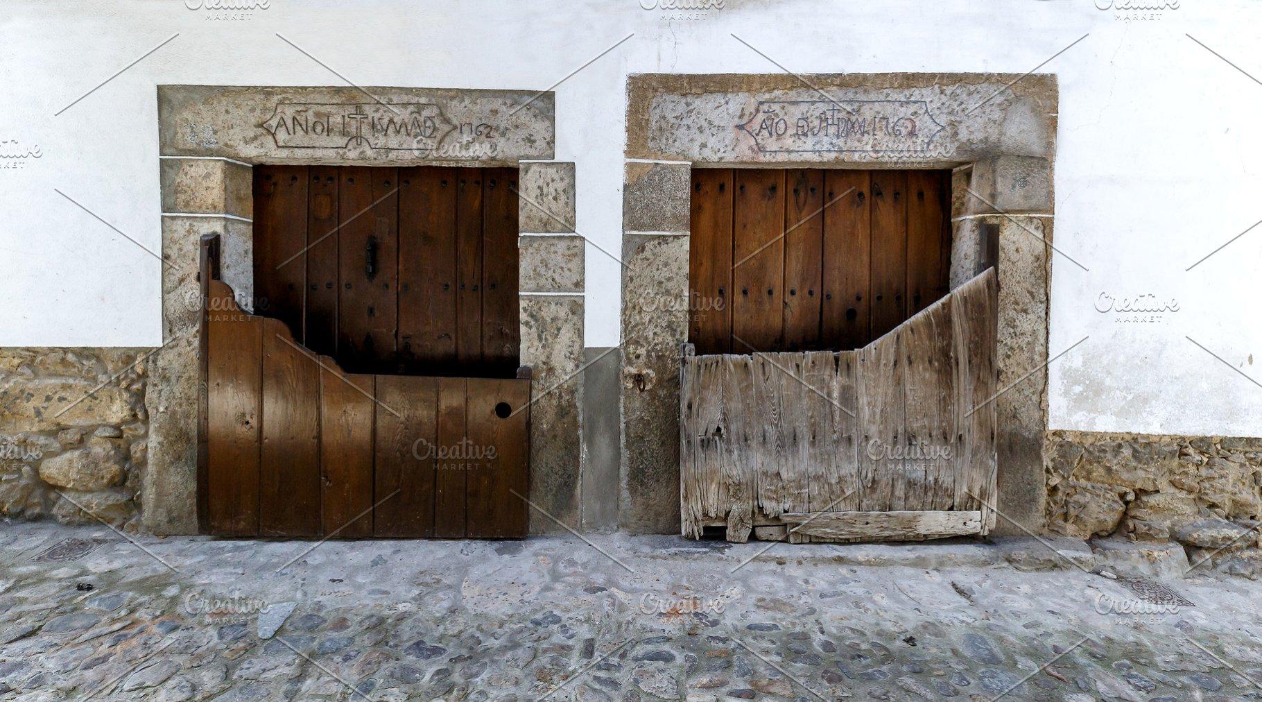 Architecture in Candelario. Spain