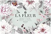 La Fleur, Pattern & Illustration Set