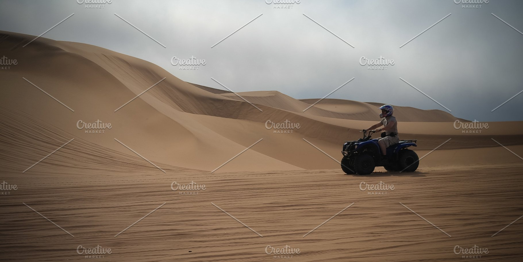 ATV driving at Namib desert, Swakopm