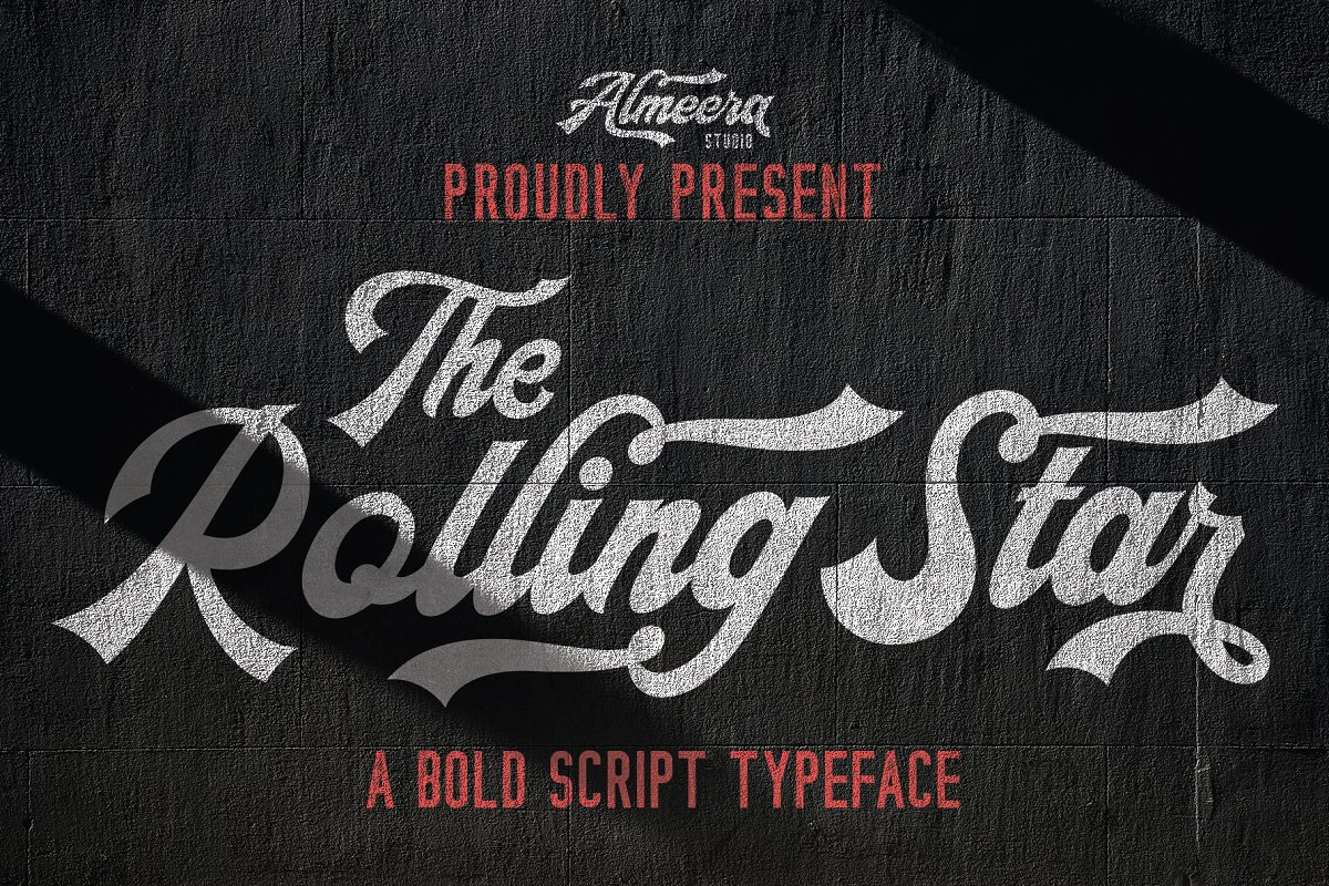 The Rollingstar - Stylish BoldScript