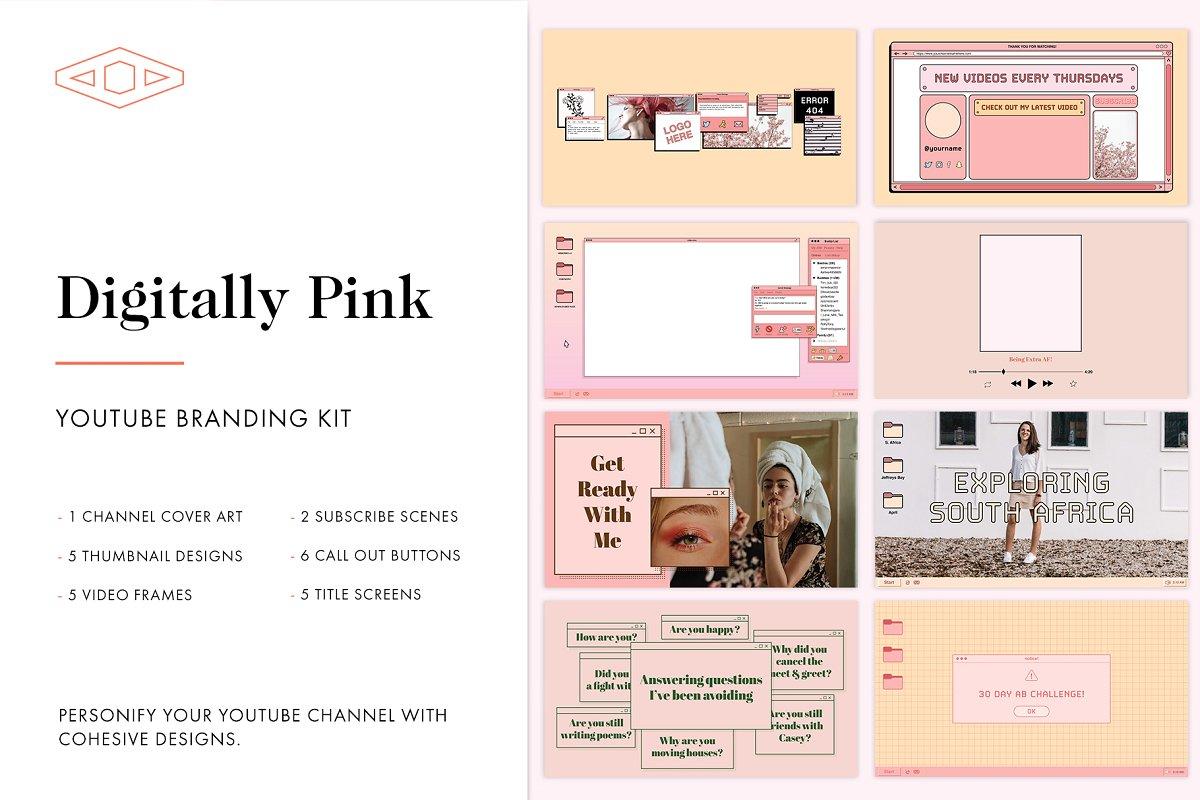 Digitally Pink Youtube Branding Kit