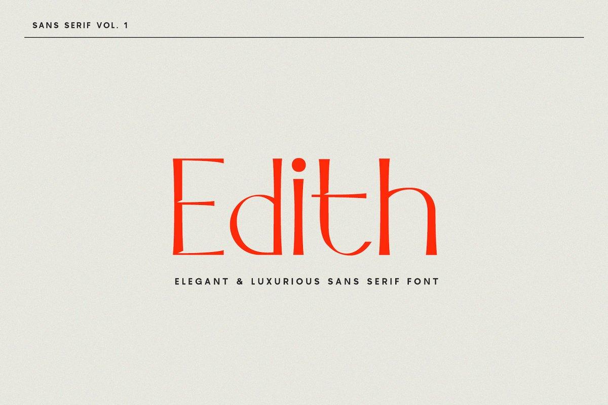 Edith | Sans Serif Font