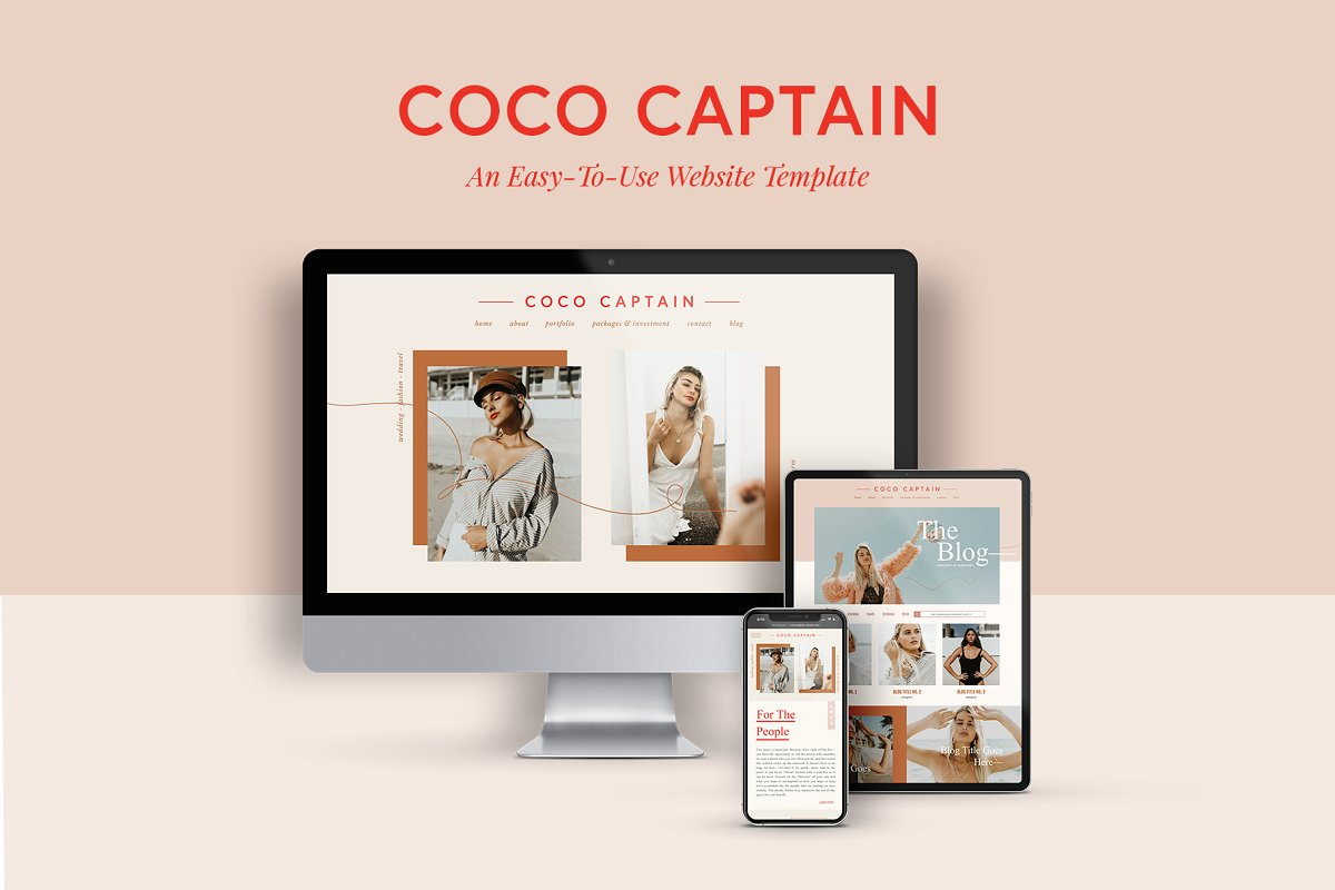 WEBSITE TEMPLATE— Coco Captain
