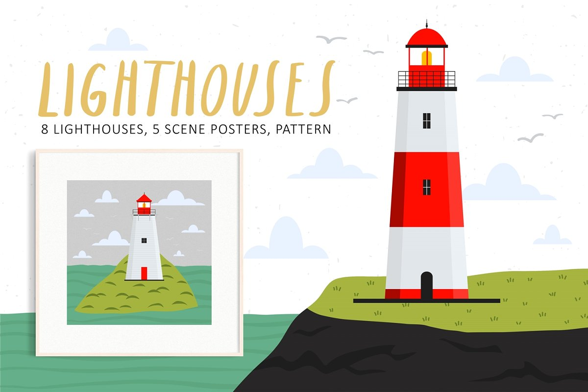 Lighthouses set