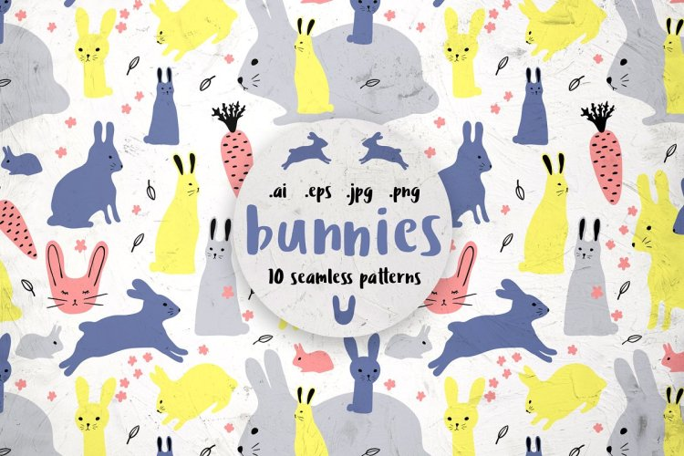 BUNNIES, 10 patterns
